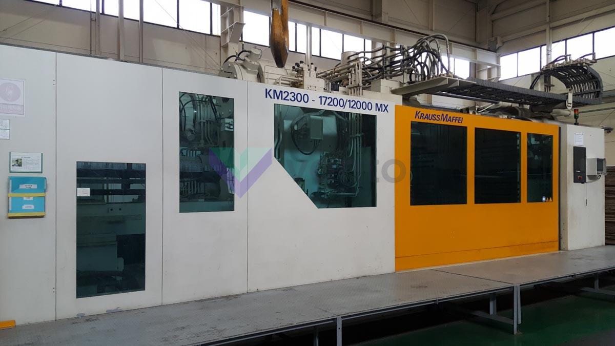 KRAUSS MAFFEI KM 2300-17200-12000 MX W 2300t injection molding machine (2008) id10222