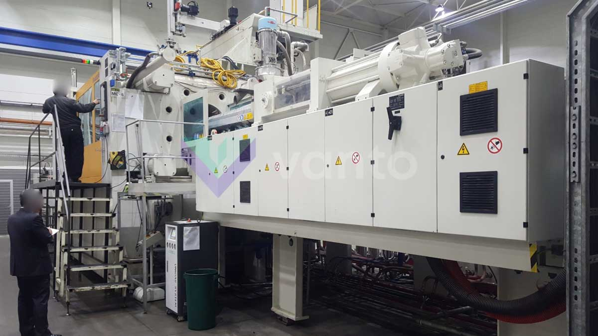 KRAUSS MAFFEI KM 1300-8100-6100 MX Injection molding machine 1300t (2008) id10227
