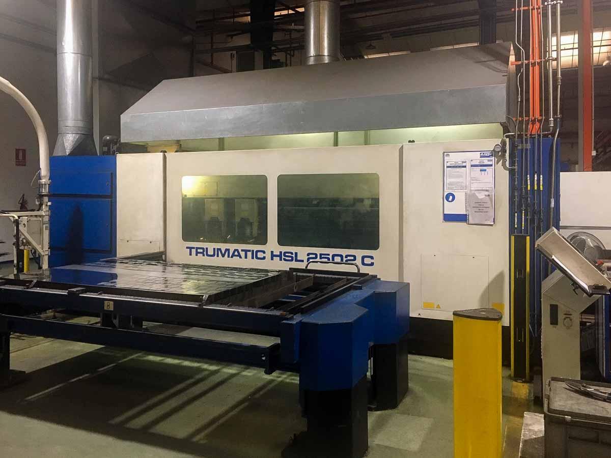 Máquina de corte láser (CO2) TRUMPF TRUMATIC HSL 2502 C (2002) id10226